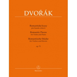 4129. A.Dvořák : Romantic Pieces for Violin and Piano Op. 75 Urtext (Bärenreiter)