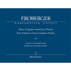 5919. J.J.Froberger : Keyboard and Organ Works from Copied Sources: Polyphonic Works, Urtext (Bärenreiter)