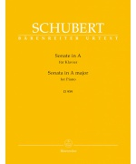 5920. F.Schubert : Sonata for Piano A major D 959, Urtext (Bärenreiter)