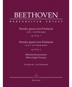 5926. L.van Beethoven : Sonata quasi una Fantasia for Pianoforte E-flat major, C-sharp minor op. 27/1+2