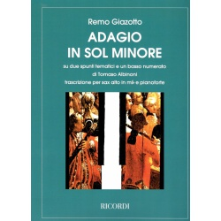 5203. R. Giazotto - T. Albinoni : Adagio in Sol Minore - Alto Sax With Piano