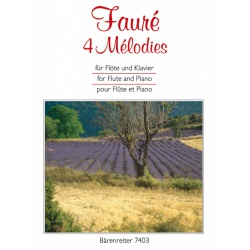 4340. G. Fauré : 4 mélodies for Flute and Piano