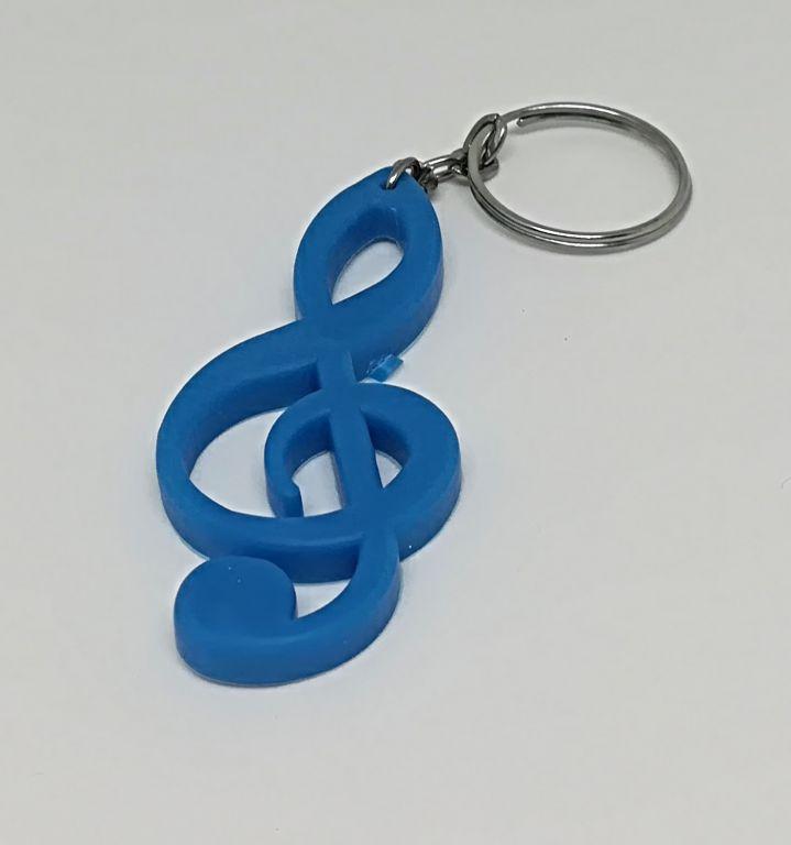 1187. Silikonový prívesok na kľúče v tvare husľového kľúča ... 1ca060c524d
