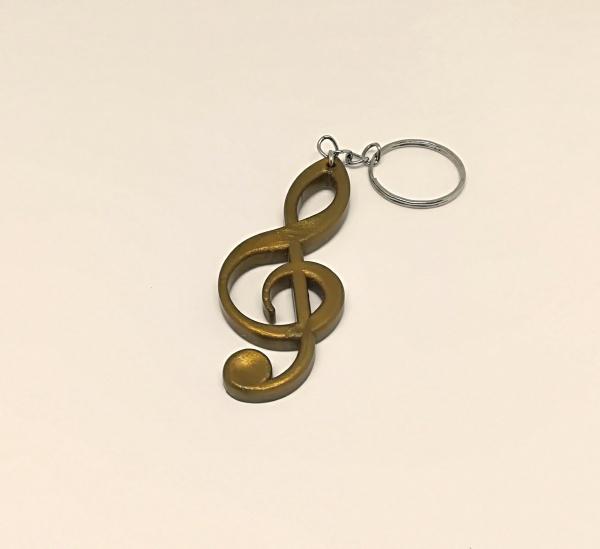 1193. Silikonový prívesok na kľúče v tvare husľového kľúča ... b2173c74dfc