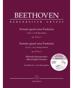 5910. L. van Beethoven : Sonata quasi una Fantasia for Pianoforte in E-flat major op. 27 no. 1 / Sonata quasi una Fantasia for Pianoforte in C-sharp minor op. 27 no. 2