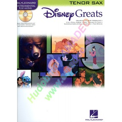 0730. Disney Great for Tenor Sax + CD Accompaniment (Hal Leonard)