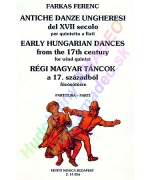 0791. F.Farkas: Early Hungarian Dances from the 17th Century for Wind Quintet, Score & parts (EMB)