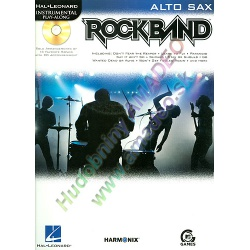 0785. Rockband for Alto Sax, Solo Arr. with CD Accompaniment (Hal Leonard)