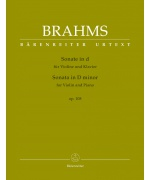 0907. J.Brahms : Sonata for Violin and Piano D minor op. 108 Urtext (Bärenreiter)
