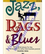 4840. M.Mier : Jazz, Rags & Blues Book 1 - 10 Original Pieces Intermediate Pianist (Alfred)