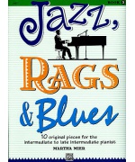 2121. M.Mier : Jazz, Rags & Blues Book 3 - 10 Original Pieces Intermediate Pianist (Alfred)