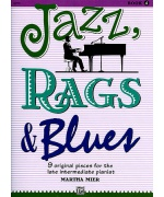2122. M.Mier : Jazz, Rags & Blues Book 4 - 9 Original Pieces Intermediate Pianist (Alfred)