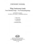 2662. D.Csengery : Four Christmas Songs for Children's Choir and Piano - Latin (EMB)
