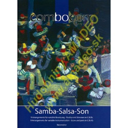 3402. Samba-Salsa-Son - Combocom, 9 arrangements for variable instruments, Score & Parts C/B/Es (Bärenreiter)